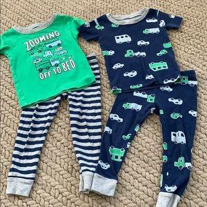 Carters Car Pajama bundle